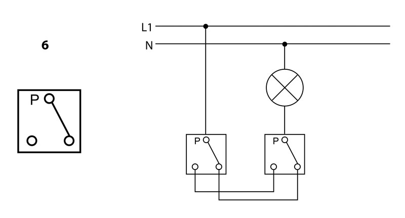 How is the two-key light switch arranged. How to connect a double ...