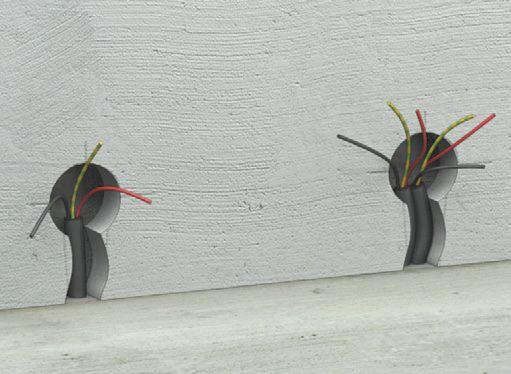 Elektroinstallationsarbeiten bei der Verlegung von verdeckten ...