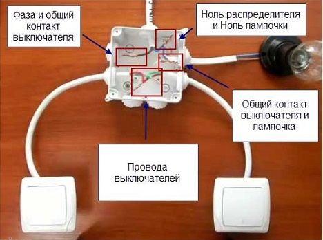 Wie man parallele Schalter an Licht anbringt. Für den Betrieb der ...